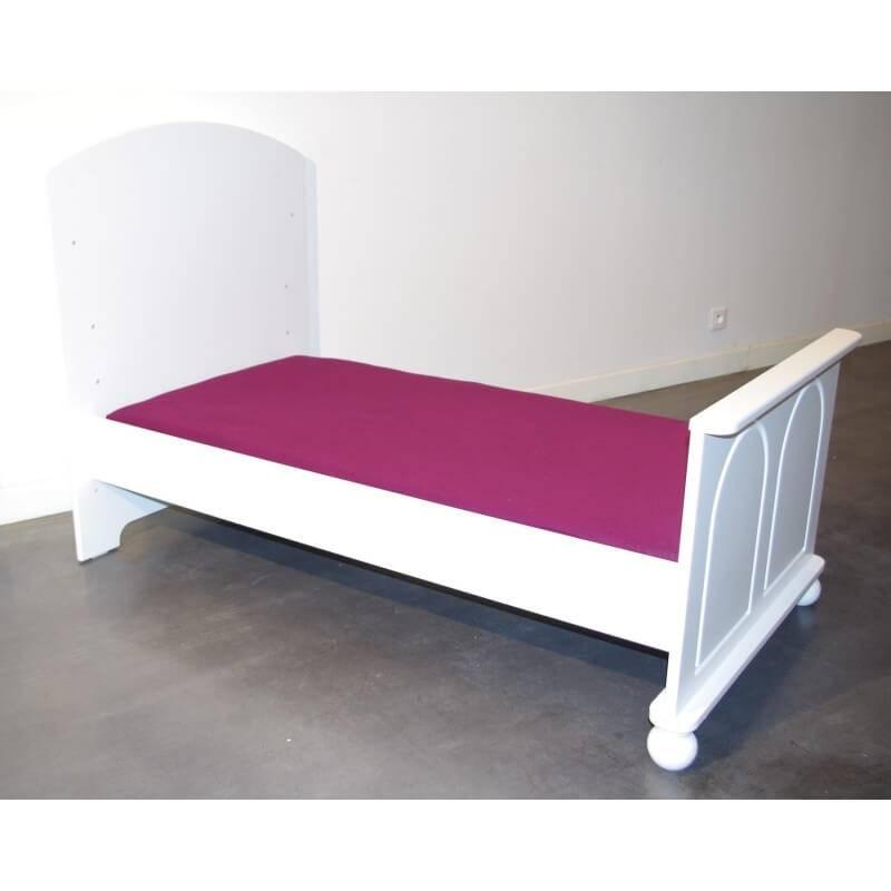 Drap housse pour lit bébé 120x60 - Bordeaux - L120 cm l60 cm