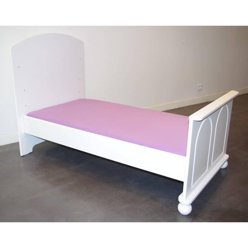 Drap Housse 140 cm x 70 cm pour Lit Bébé - Disponible en 11 couleurs - Violet Clair - L120 cm l60 cm
