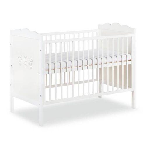Lit bébé blanc Hibou 120x60