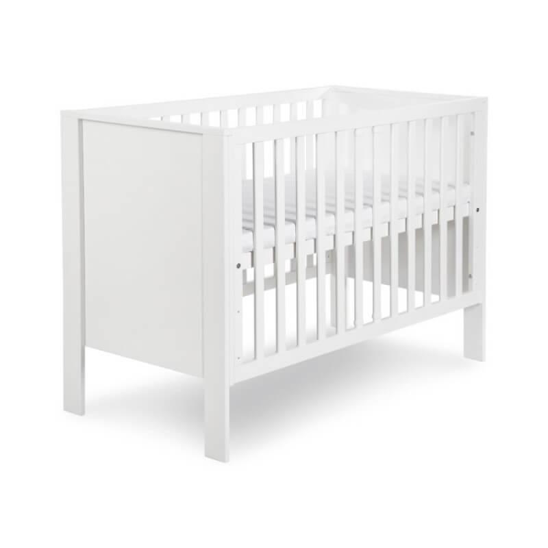 Lit bébé blanc 120x60 Leon - H91 cm l128 cm