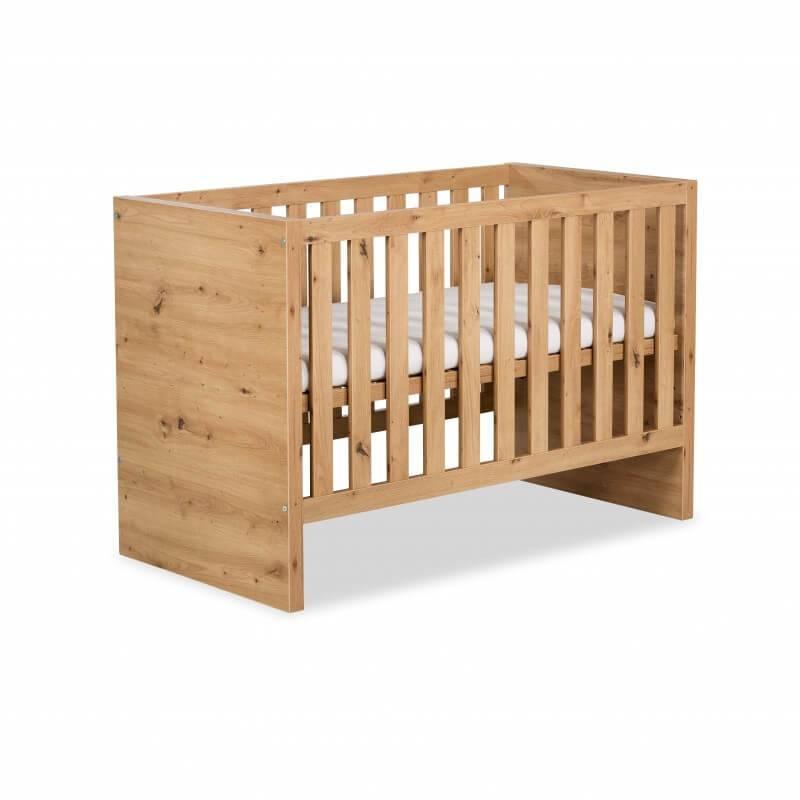 Petite Chambre Lit bébé évolutif en bois   60 cm x 120 cm   Chêne   MDF   petitechambre.fr