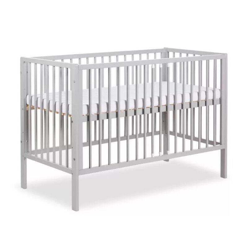 Lit bébé 120x60 FRANK - Gris -