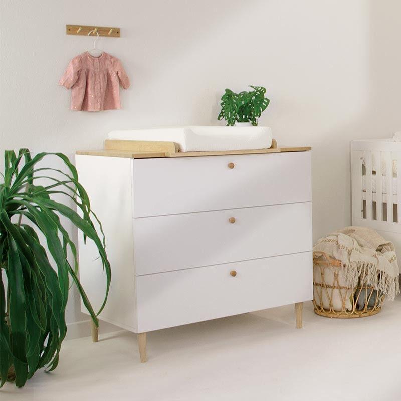 Commode bébé SCANDI - Blanc - H95,2 cm