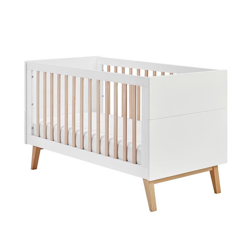 Pinio Lit bébé évolutif SWING 140x70   Blanc   70 cm x 140 cm   Bois massif   petitechambre.fr