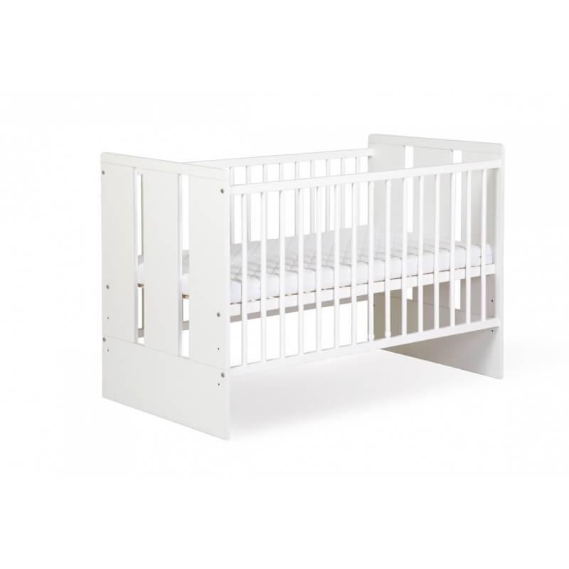Petite Chambre Lit bébé blanc 120cm Paule     Blanc   Bois massif   petitechambre.fr