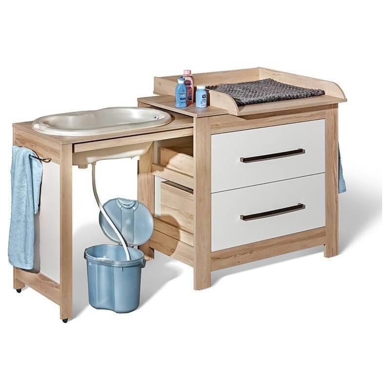 Petite Chambre Commode de bain pour bébé Terra   Chêne   Panneaux Stratifiés   petitechambre.fr