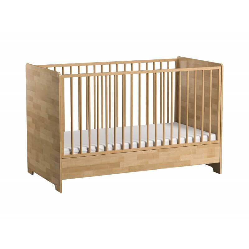 Petite Chambre Lit bébé 70x140 en bois massif Bétula     Couleur au choix   Bois massif   petitechambre.fr