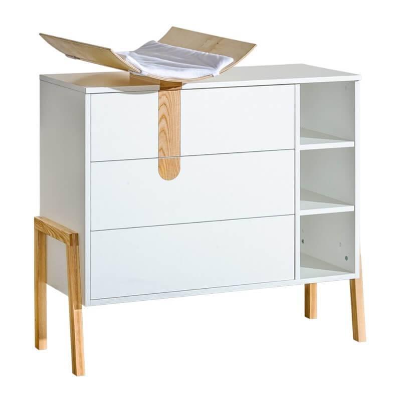 Petite Chambre Commode à langer Yeti pour chambre bébé   Blanc   Panneaux Stratifiés   petitechambre.fr
