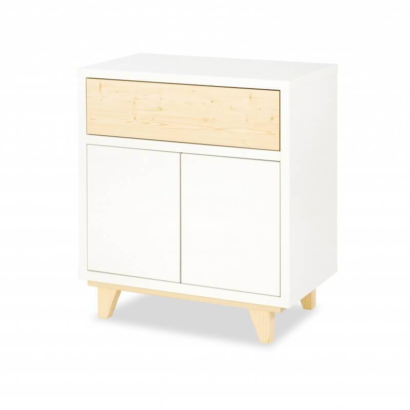 Commode scandinave blanche Lydia - H88 cm