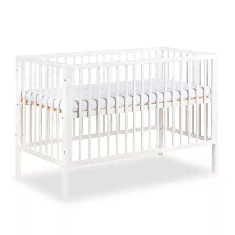 Petite Chambre Lit bébé 120x60 FRANK   60 cm x 120 cm   Couleur au choix   Bois massif   petitechambre.fr