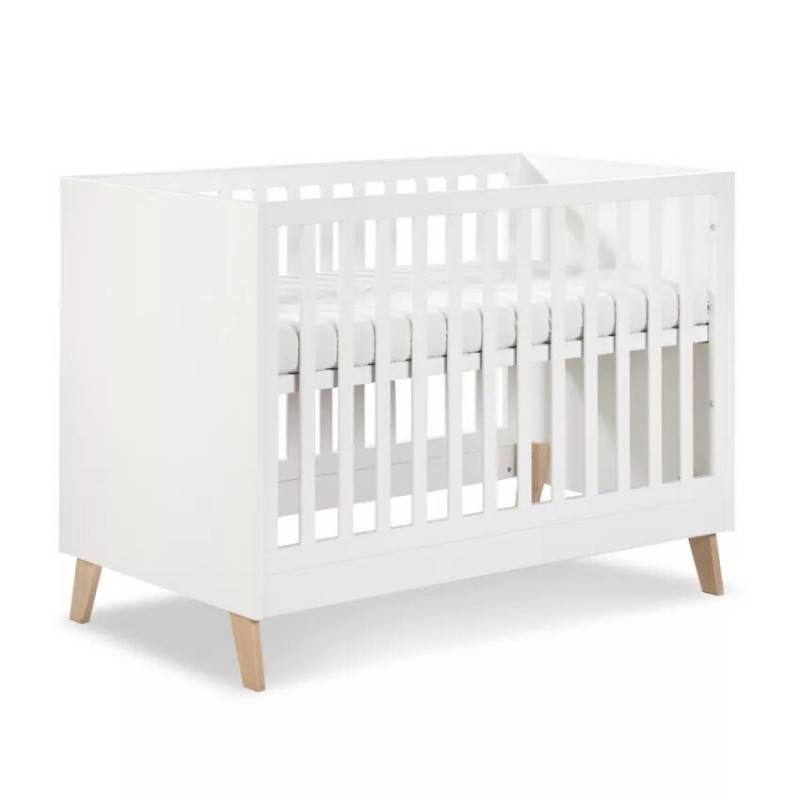 Lit bébé évolutif 120x60 Noah - Blanc - H92 cm L124 cm