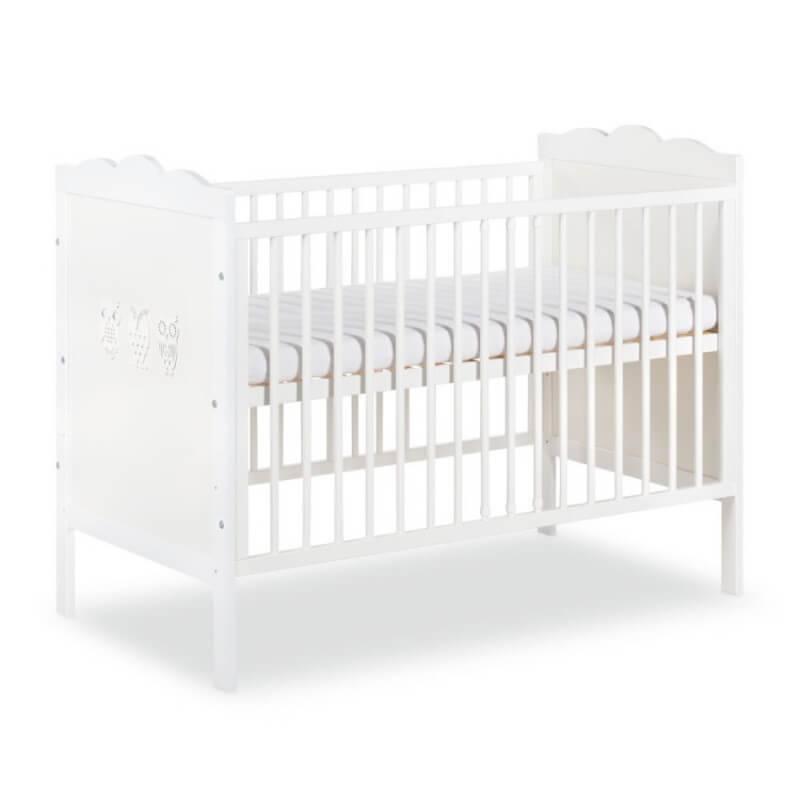Petite Chambre Lit bébé blanc Hibou 120x60   60 cm x 120 cm   Blanc   Bois massif   petitechambre.fr