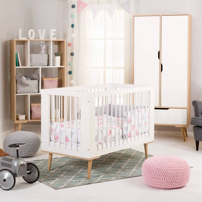 Petite Chambre Chambre bébé scandinave Sofie     MDF et hêtre   petitechambre.fr