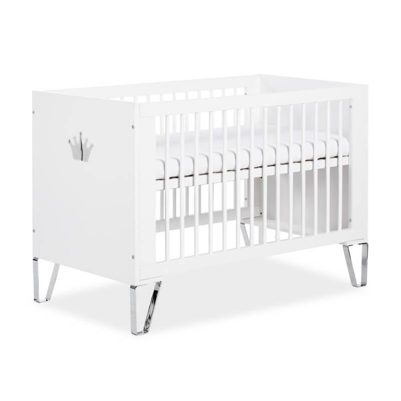 Lit bébé 120cm - Blanc - H86 cm