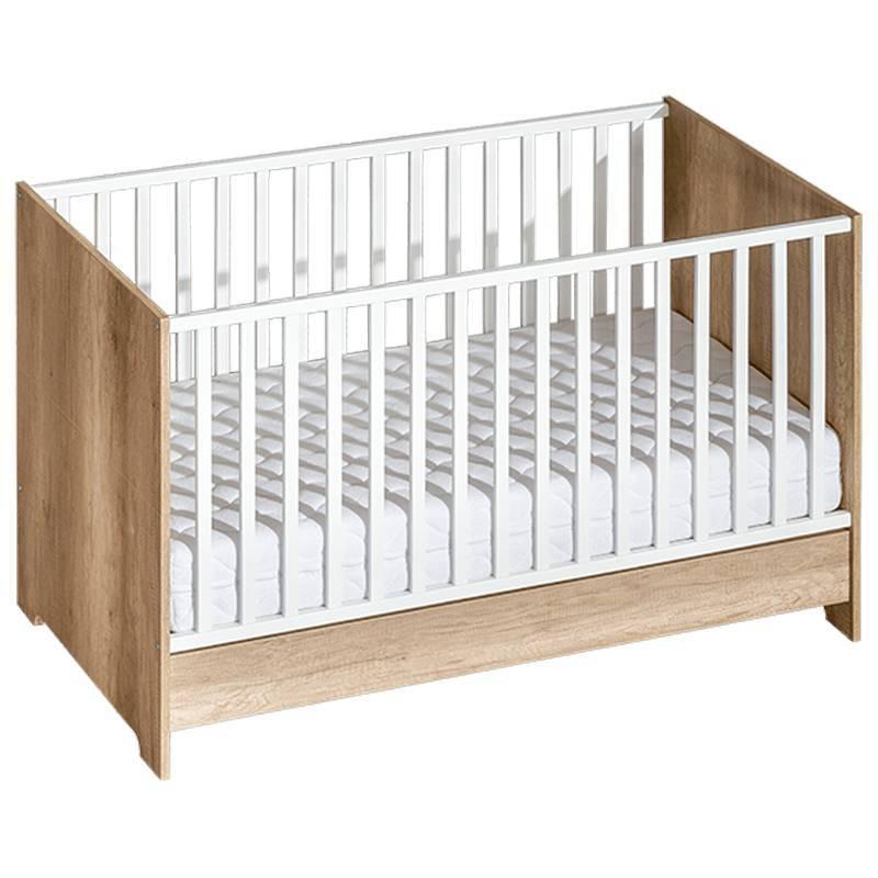 Lit bébé évolutif en bois 140x70cm Terra - Chêne - L144 cm l75 cm