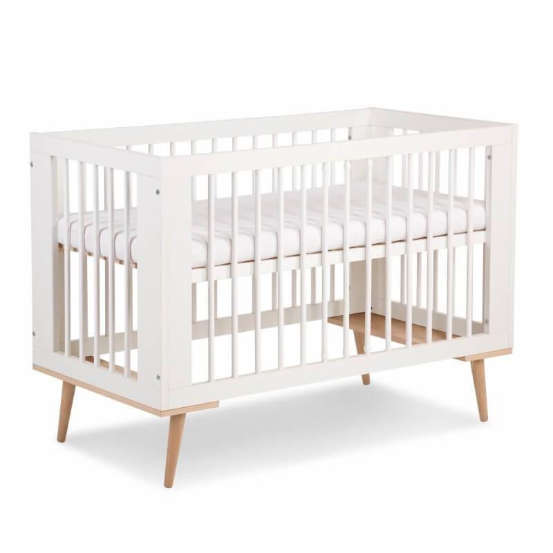 Lit bébé 60x120 Sofie - Blanc - H88 cm L124 cm l65,5 cm