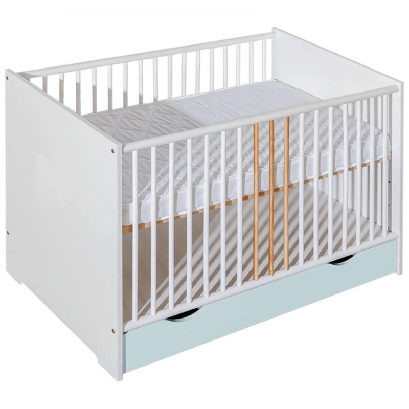 Lit bébé Chloé personnalisable - Gris - H85 cm L124 cm l66,5 cm