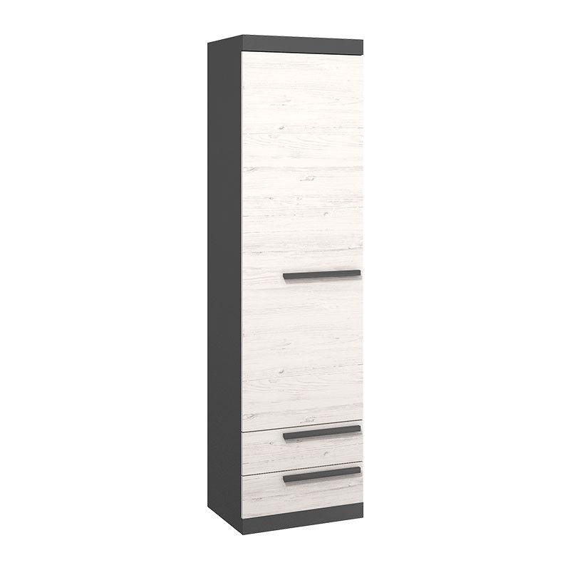 Armoire simple largeur 55 cm TREND chambre enfant - Graphite - H194 cm