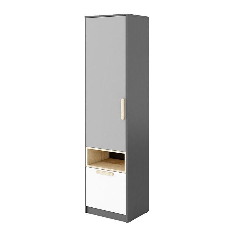 Armoire simple POK enfant - Gris - H193 cm
