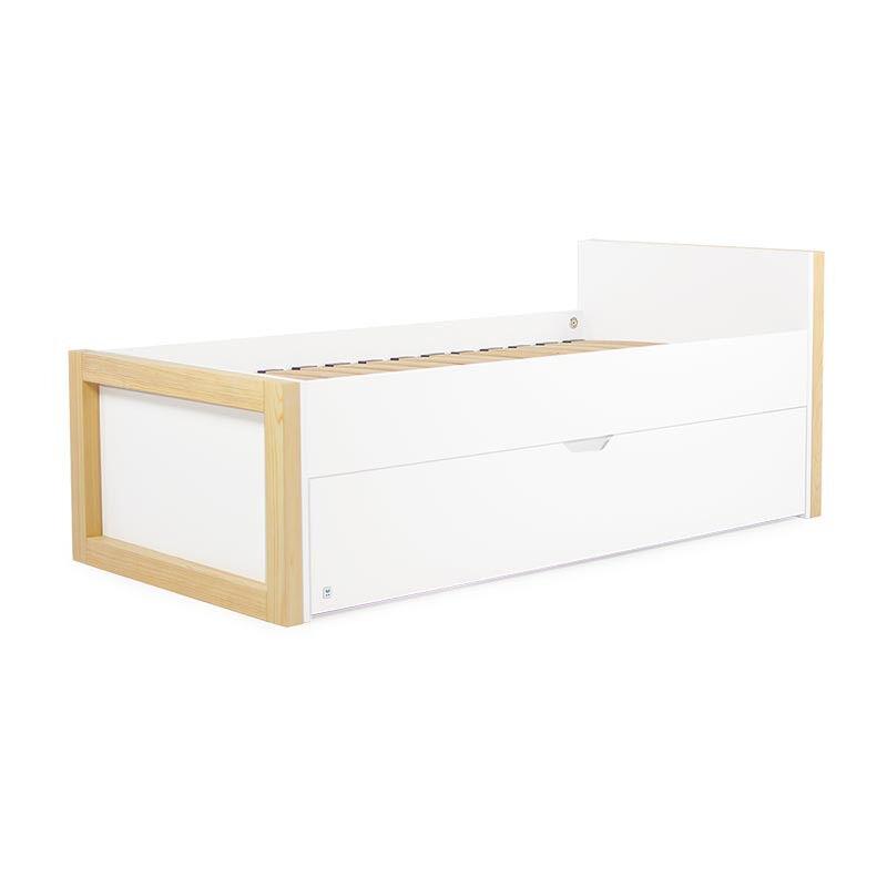 Lit enfant WOODIE avec tiroir - Blanc