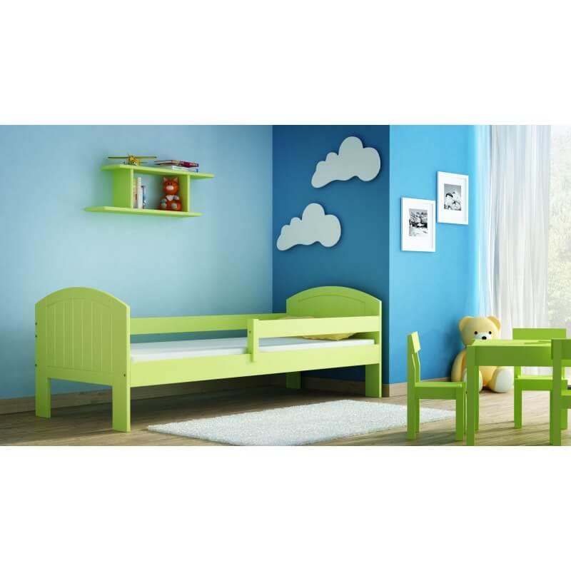 Lit junior Miko couleur au choix - Vert - 70 cm x 160 cm