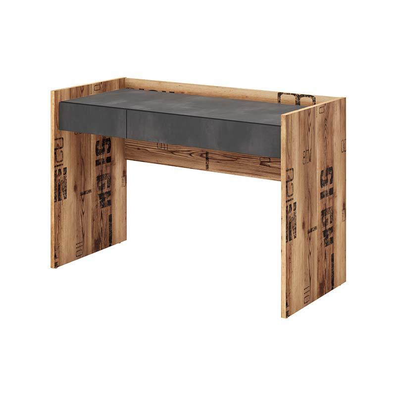 Bureau design ado Fargo industriel - Graphite - H80 cm