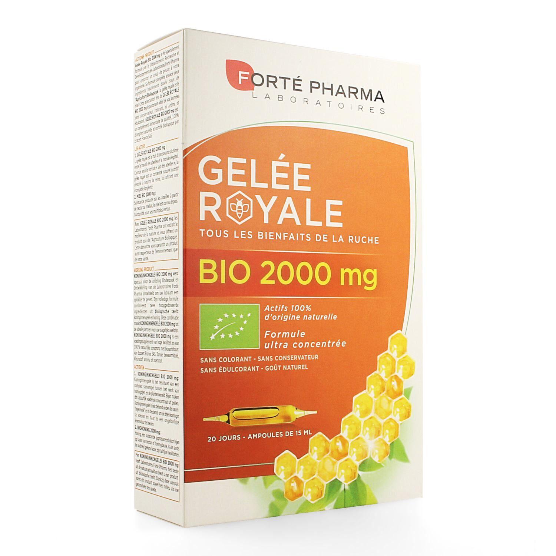 BIO + Forte Pharma Gelee Royale Bio 2000 mg 20 Ampoules