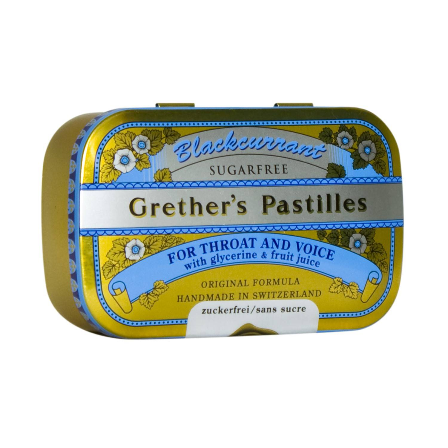 Grether's Pastilles Blackcurrant Sans Sucre 110 g