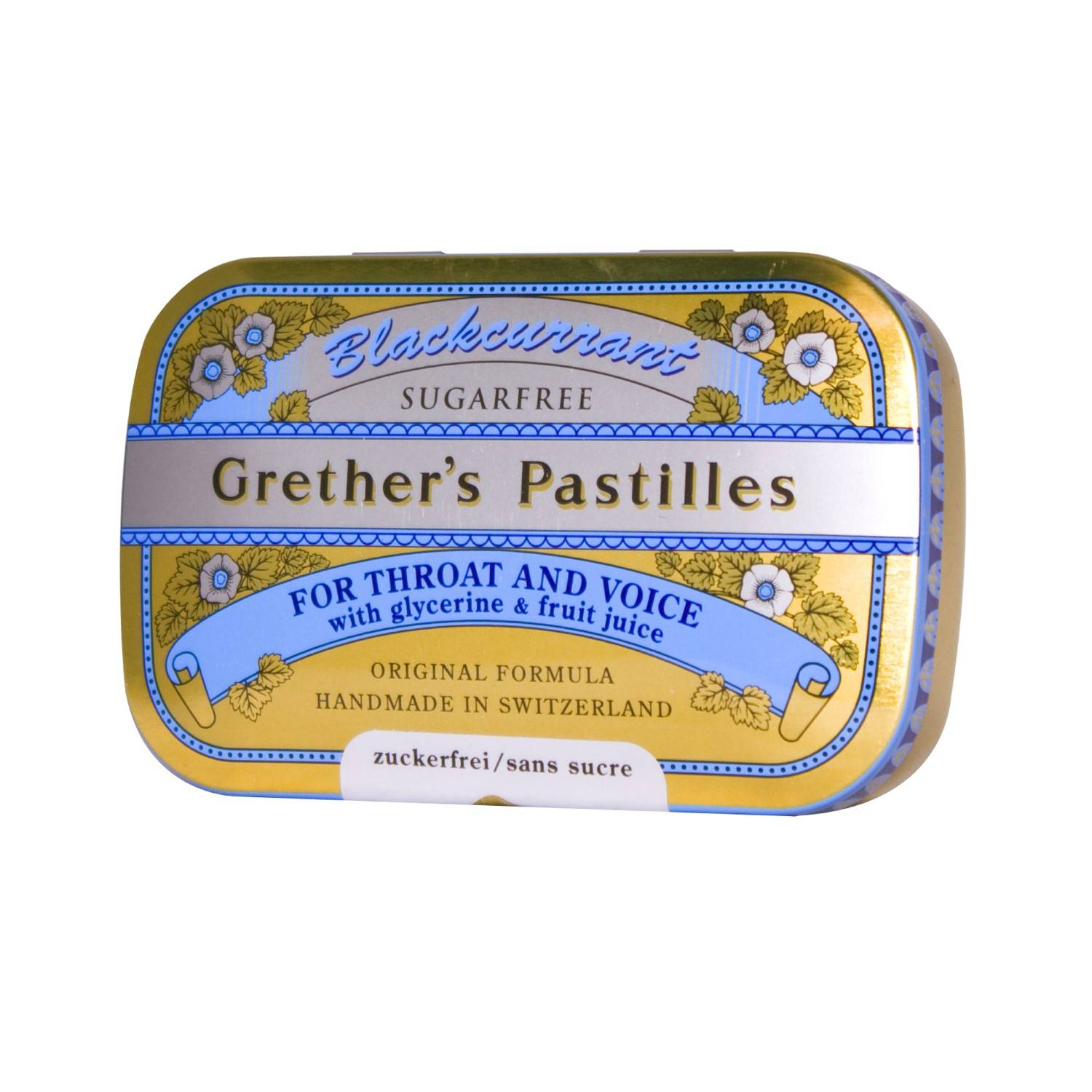 Grether's Pastilles Blackcurrant Sans Sucre 60 g