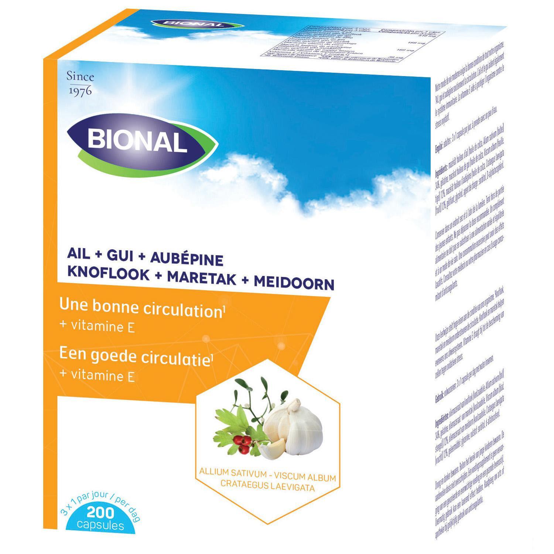 Bional Ail + Gui + Aubepine + Vitamine E 200 Capsules