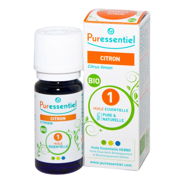 BIO + Puressentiel Citron Huile Essentielle Bio 10 ml