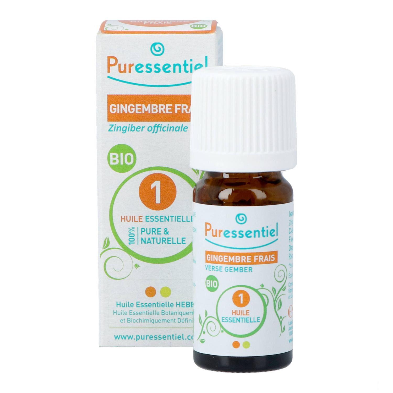 BIO + Puressentiel Gingembre Huile Essentielle Bio 5 ml