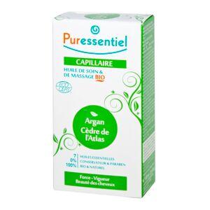 Puressentiel Capillaire Huile de Soin et de Massage Argan/Cèdre de l' Atlas Bio 100 ml