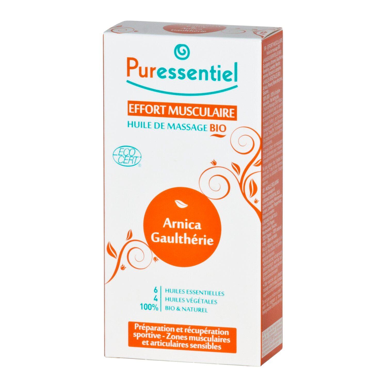 Puressentiel Effort Musculaire Huile de Massage Arnica/Gaulthérie Bio 100 ml