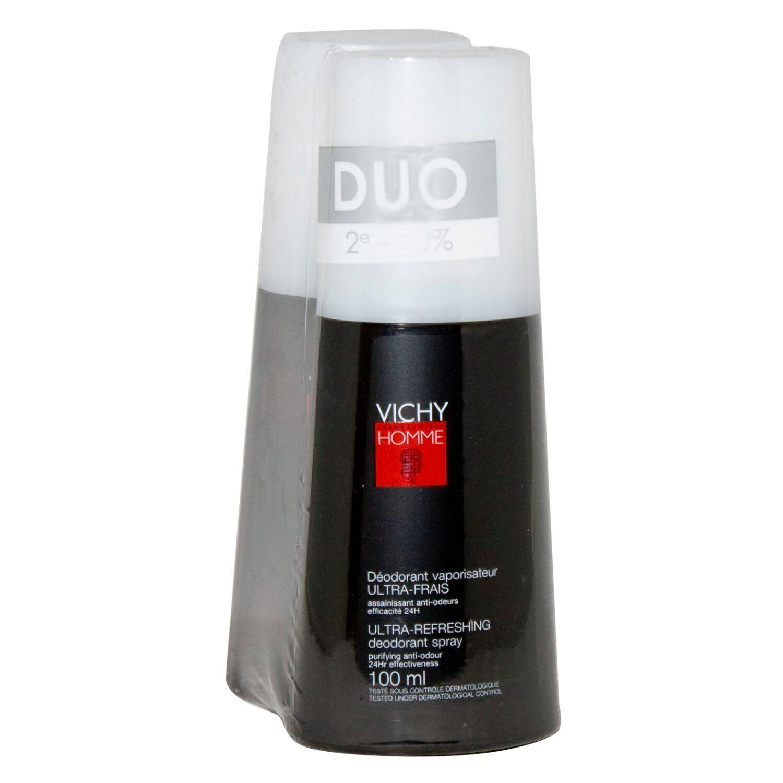 Vichy Homme Déodorant Vaporisateur Ultra Frais 2 x 100 ml Promo