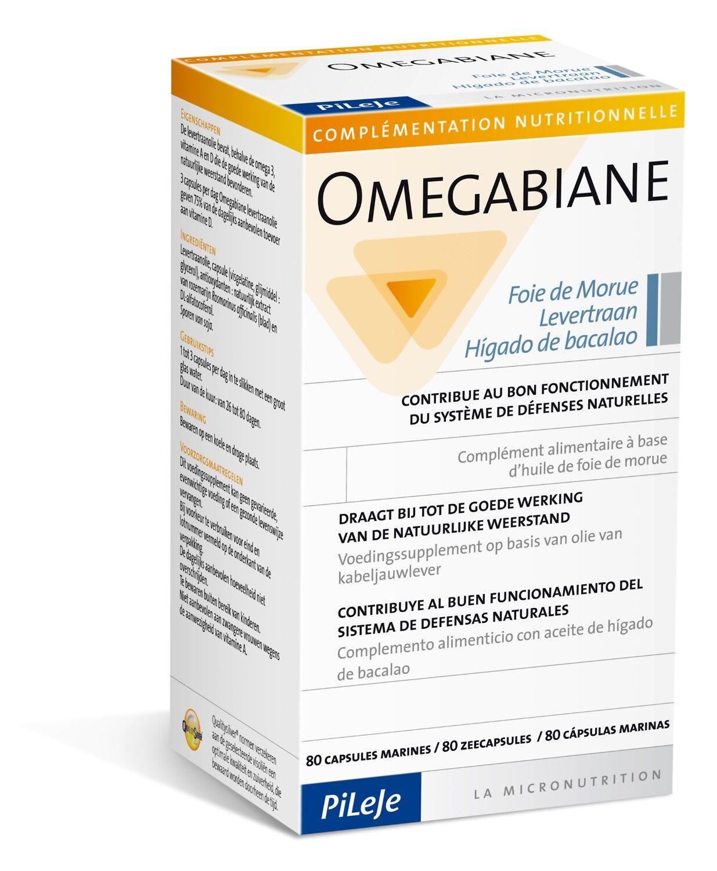 Pileje Omegabiane Foie de Morue 80 Gélules