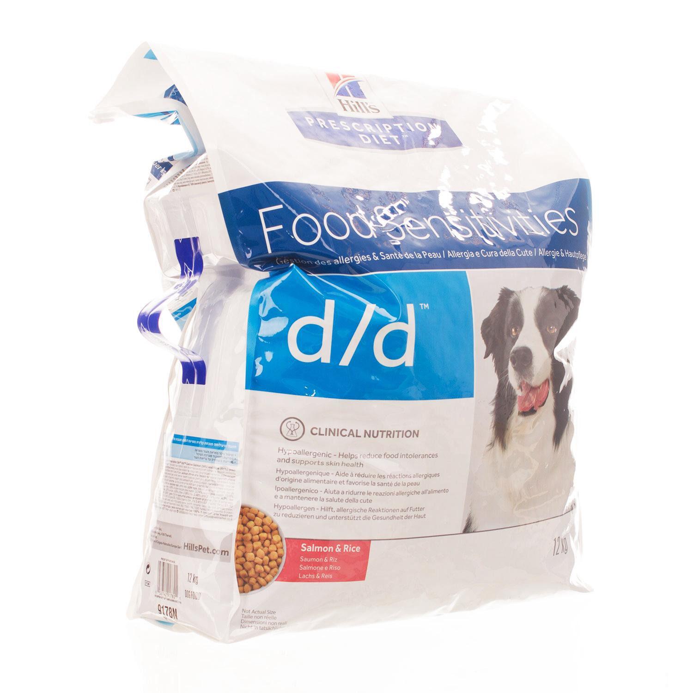 Hills Prescription Diet D/D Canine 12 Kg Saumon & Riz