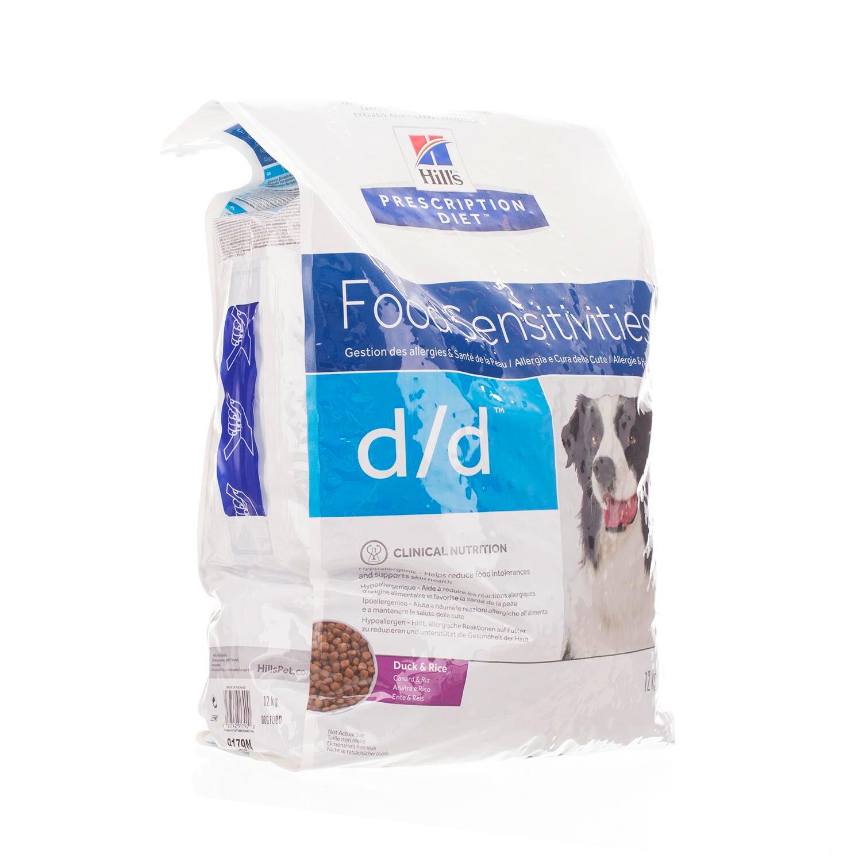 Hills Prescription Diet D/D Canine 12 Kg Canard & Riz