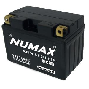 Numax Batterie moto Numax Premium AGM avec pack  YTX12A-BS 12V 10Ah 160A - Publicité