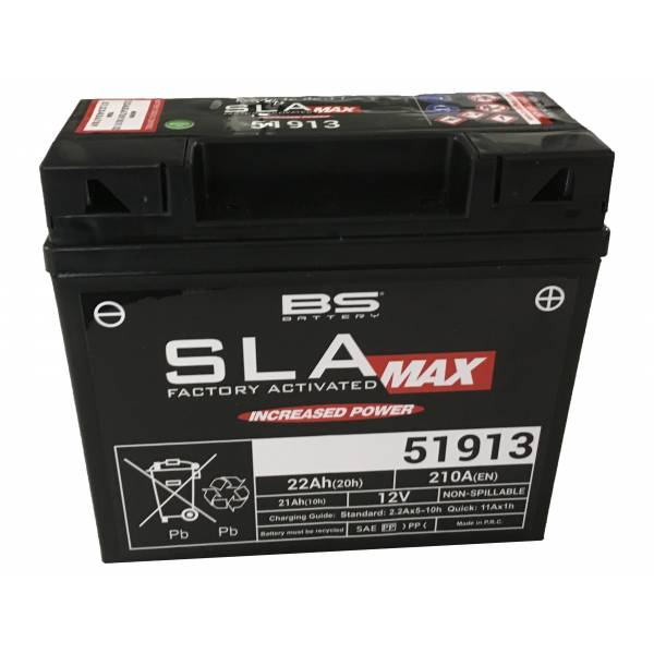 BS BATTERY Batterie moto BS 51913 SLA MAX / GEL 12V / 21Ah