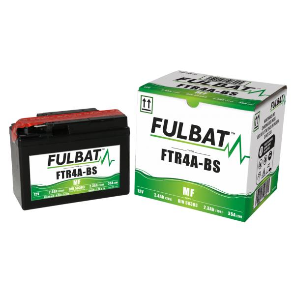 Fulbat Batterie moto YTR4A-BS étanche à l'acide 12V / 2.3Ah