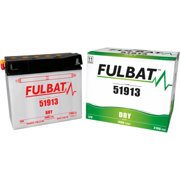 fulbat Batterie Moto Fulbat  51913 12V 19H 210A (avec entretien) (- / + ) + à droite