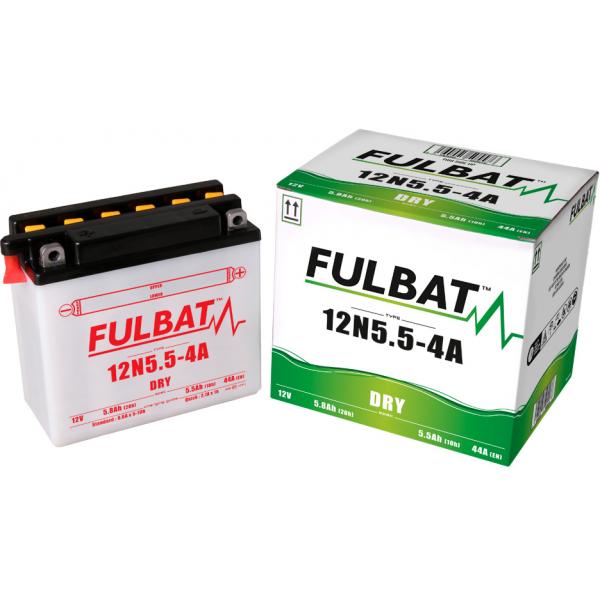 fulbat Batterie Fulbat moto 12N5,5-4A 12V 5,5AH  (avec entretien)