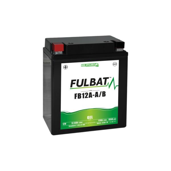 FULBAT Batterie moto GEL  FB12A-A/B GEL /YB12A-A/B  FULBAT SLA Etanche  12.6AH 155 AMPS