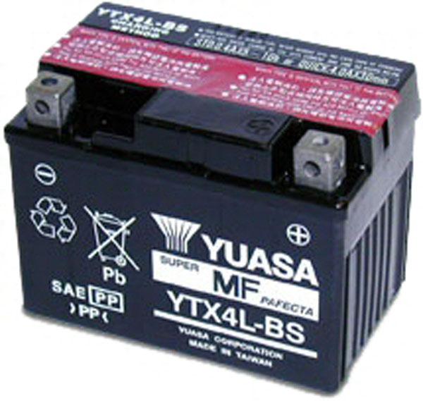 Yuasa Batterie tondeuse Yuasa YTX4L-BS étanche 12V / 3Ah
