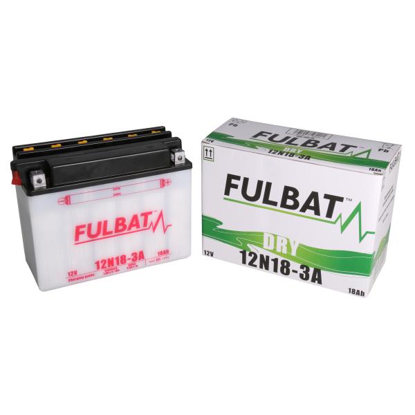 Fulbat Batterie tondeuse 12N18-3A 12V / 18Ah