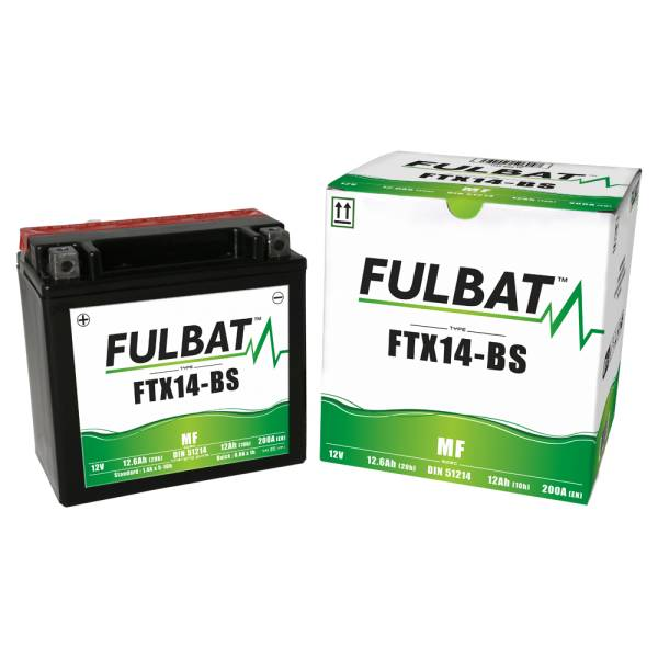 Fulbat Batterie tondeuse YTX14-BS étanche 12V / 12Ah