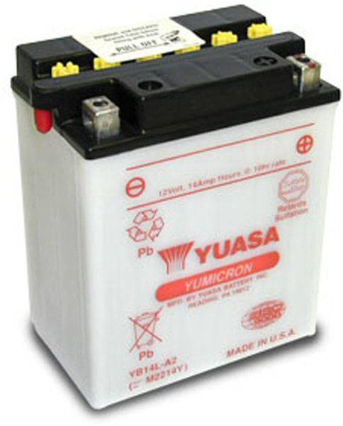Yuasa Batterie tondeuse Yuasa YB14L-A2 12V / 14Ah