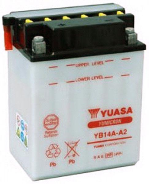 Yuasa Batterie tondeuse Yuasa YB14A-A2 12V / 14Ah