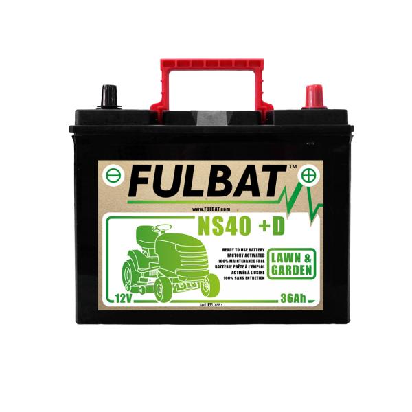 fulbat Batterie Fulbat NS40 (+D) CA/CA 12V 36 AH  (- / + ) NS40D  Bornes Japonnaises (sans entretien)